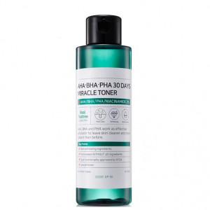 Кислотный тонер для проблемной кожи SOME BY MI AHA.BHA.PHA 30 Days Miracle Toner 150ml