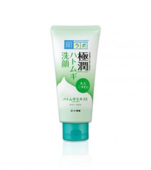 Лечебная пенка для умывания кожи склонной к акне Hada Labo Gokujyun Hatomugi Face Wash 100g