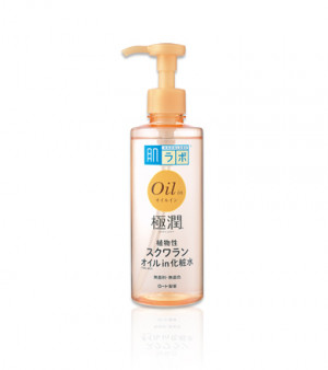 Увлажняющий лосьон для лица с маслом сквалан Hada Labo Gokujyun Oil in Lotion 220ml