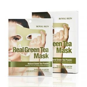 Маска для лица с зеленым чаем ROYAL SKIN REAL GREEN TEA MASK 5шт