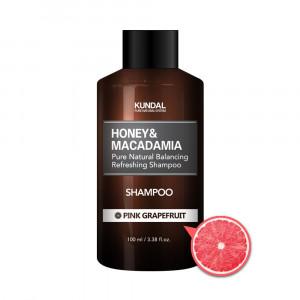 """Безсульфатный шампунь для волос """"Розовый грейпфрут"""" KUNDAL Honey & Macadamia Pink Grapefruit Shampoo 100ml"""