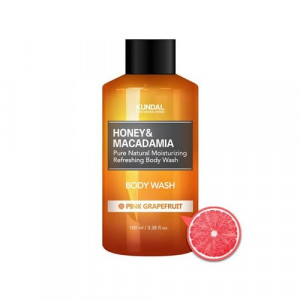 """Гель для душа """"Розовый грейпфрут"""" KUNDAL Honey & Macadamia Body Wash Pink Grapefruit 100ml"""