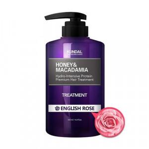 """Маска-Кондиционер для волос """"Английская роза"""" KUNDAL Honey & Macadamia Treatment English Rose 500ml"""