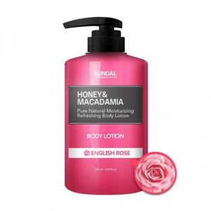 "Лосьон для тела  ""Английская роза"" KUNDAL Honey & Macadamia Body Lotion English Rose 500ml"