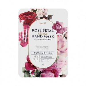 Укрепляющая маска-перчатки для рук KOELF Rose Petal Satin Hand Mask 16g
