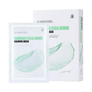 Успокаивающая тканевая маска с центеллой и бамбуком MEDI-PEEL Bamboo Cica Bomb Calming Mask 25ml