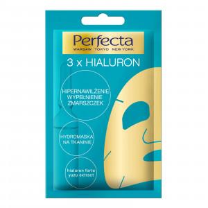 Увлажняющая тканевая маска для лица PERFECTA 3xHyaluron Hydro Sheet Face Mask Hyper Moisturising 20ml