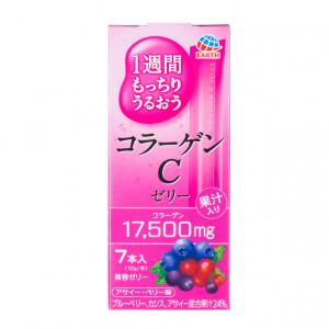 Японский питьевой коллаген в форме желе со вкусом лесных ягод Earth Collagen C Jelly (на 7 дней) 70g