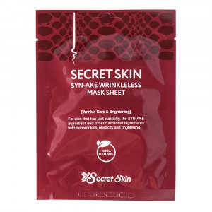 Маска для лица с пептидом змеиного яда Secret Skin Syn-Ake Wrinkless Mask Sheet 20g