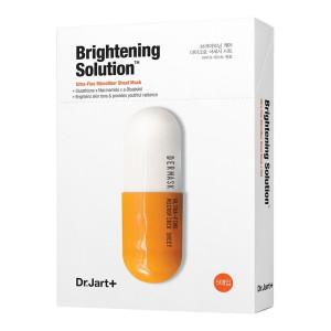 Осветляющая маска-детокс для лица Dr.Jart+ Dermask Micro Jet Brightening Solution - 5шт. (Срок годности: до 11.12.2021)