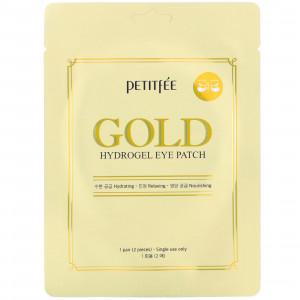 Гидрогелевые патчи для глаз с золотым комплексом +5 - PETITFEE Gold Hydrogel Eye Patch (1 пара)