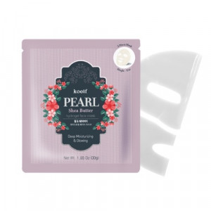 Гидрогелевая маска для лица с жемчугом KOELF Pearl & Shea Butter Mask 30g - 1 шт
