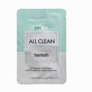 Пробник пенки для умывания Heimish All Clean Green Foam pH 5.5 2ml