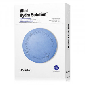 Увлажняющая маска с гиалуроновой кислотой Dr. Jart+ Dermask Water Jet Vital Hydra Solution - 5шт.