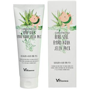 Увлажняющая маска для лица с алоэ и коллагеном Elizavecca Milky Piggy Herb Soul Hydro Aqua Jella Pack 250ml