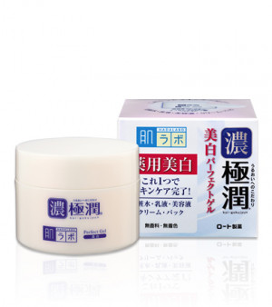 Отбеливающий гиалуроновый гель для лица с арбутином HADA LABO Koi-Gokujyun Whitening Perfect Gel 100g