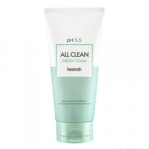 Мягкая очищающая пенка с экстрактом центеллы HEIMISH All Clean Green Foam 150ml