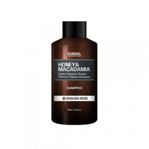 """Безсульфатный шампунь для волос """"Английская роза"""" KUNDAL Honey & Macadamia Shampoo English Rose 100ml"""