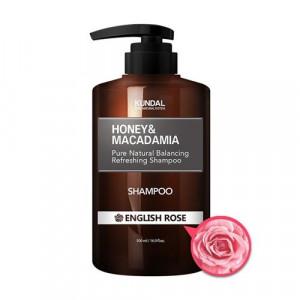 """Безсульфатный шампунь для волос """"Английская роза"""" KUNDAL Honey & Macadamia Shampoo English Rose 500ml"""