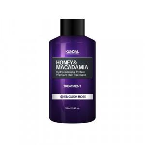 """Маска-Кондиционер для волос """"Английская роза"""" KUNDAL Honey & Macadamia Treatment English Rose 100ml"""