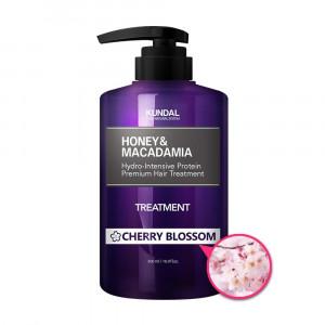"Маска-Кондиционер для волос ""Цветущая вишня"" KUNDAL Honey & Macadamia Treatment Cherry Blossom 500ml"