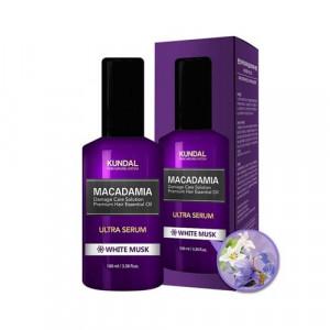 "Масло-Сыворотка для волос ""Белый мускус"" KUNDAL Macadamia Ultra Serum White Musk 100ml"