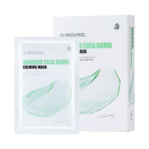 Успокаивающая тканевая маска с центеллой и бамбуком MEDI-PEEL Bamboo Cica Bomb Calming Mask 25ml - 10шт
