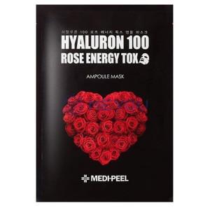 Омолаживающая ампульная маска для лица с розой MEDI-PEEL Hyaluron Rose Energy Tox Ampoule Mask 30ml - 1шт