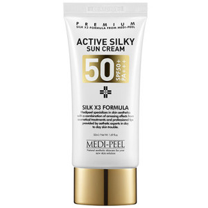 Солнцезащитный крем для лица с пептидным комплексом MEDI-PEEL Active Silky Sun Cream SPF50+ PA+++ 50ml