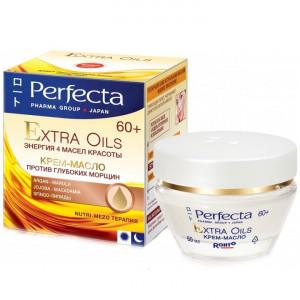 Крем-масло для лица против глубоких морщин для возраста 60+ PERFECTA Extra Oils Cream 60+ 50ml