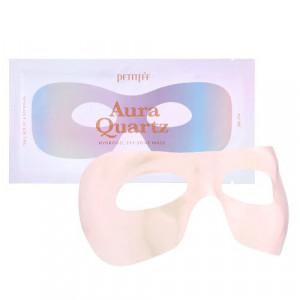 Гидрогелевая маска для области вокруг глаз с экстрактом жемчуга и лавандой PETITFEE Aura Quartz Hydrogel Eye Zone Mask Iridescent Lavender 9g - 1шт.
