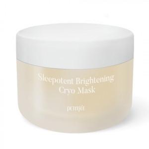 Выравнивающая тон ночная крио-маска с витамином С и ниацинамидом PETITFEE Sleepotent Brightening Cryo Mask 55ml
