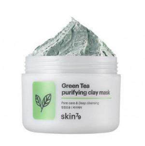 Освежающая глиняная маска для лица Skin79 Green Tea Purifying Clay Mask 100g