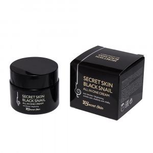 Крем для лица с муцином черной улитки Secret Skin Black Snail All In One Cream 50g