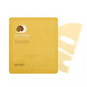 Гідрогелева маска для обличчя з золотом і равликом PETITFEE Gold & Snail Hydrogel Mask 30g - 1шт