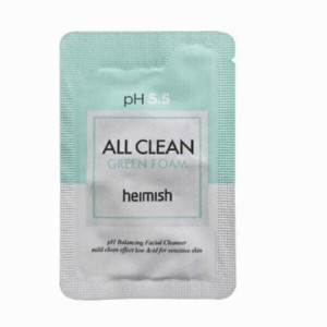 Пробник пінки для вмивання HEIMISH All Clean Green Foam pH 5.5 2ml