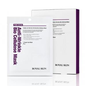 Біо-целюлозна омолоджуюча маска для обличчя ROYAL SKIN Prime Edition Anti-wrinkle Bio Cellulose Mask 5шт (Термін придатності: до 25.09.2021)