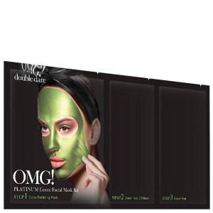 "Трикомпонентний комплекс масок ""Зволоження та Себоконтроль""Double Dare Omg! Platinum Green Facial Mask Kit"