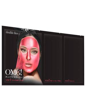 """Трикомпонентний комплекс масок """"Сяйво і рівний тон"""" Double Dare OMG! Platinum Hot Pink Facial Mask Kit"""