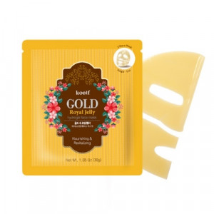 Гідрогелева маска для обличчя з золотом KOELF Gold & Royal Jelly Mask 30g - 1 шт