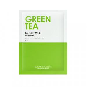 Зволожуюча щоденна маска для обличчя з зеленим чаєм BOOMDEAHDAH Everyday Mask Green Tea 25g