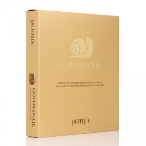 Гідрогелева маска для обличчя з золотом і равликом PETITFEE Gold & Snail Hydrogel Mask Pack - 30g x 5 шт