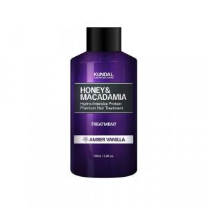 """Маска-Кондиціонер для волосся """"Бурштинова ваніль"""" KUNDAL Honey & Macadamia Treatment Amber Vanilla 100ml"""
