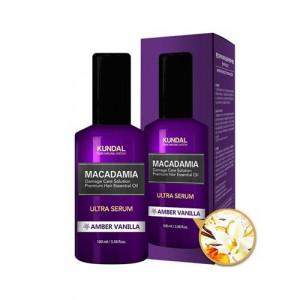 "Масло-Сироватка для волосся ""Бурштинова ваніль"" KUNDAL Macadamia Ultra Serum Amber Vanilla 100ml"