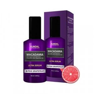 """Масло-Сироватка для волосся """"Рожевий грейпфрут"""" KUNDAL Macadamia Ultra Serum Pink Grapefruit 100ml"""