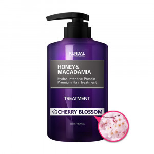 """Маска-Кондиціонер для волосся """"Квітуча вишня"""" KUNDAL Honey & Macadamia Treatment Cherry Blossom 500ml"""