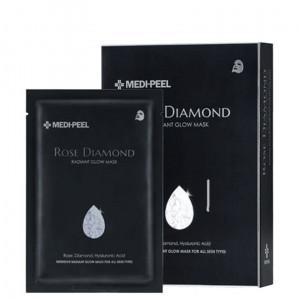 Тканинна маска з алмазною пудрою для сяйва шкіри MEDI-PEEL Rose Diamond Radiant Glow Mask Sheet 25ml - 10шт