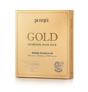 Гідрогелева маска для обличчя з золотим комплексом +5 PETITFEE Gold Hydrogel Mask Pack +5 golden complex - 5шт
