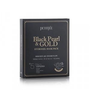 Гідрогелева маска з золотом і чорними перлами PETITFEE Black Pearl & Gold Hydrogel Mask Pack - 5шт