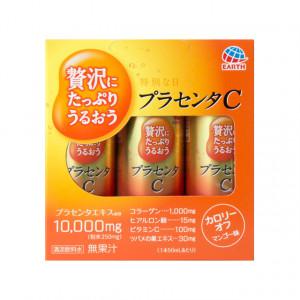 Японська питна плацента з гіалуроновою кислотою і вітаміном С Earth Placenta C Drink 50ml х 3шт. (Термін придатності: до 21.09.2021)